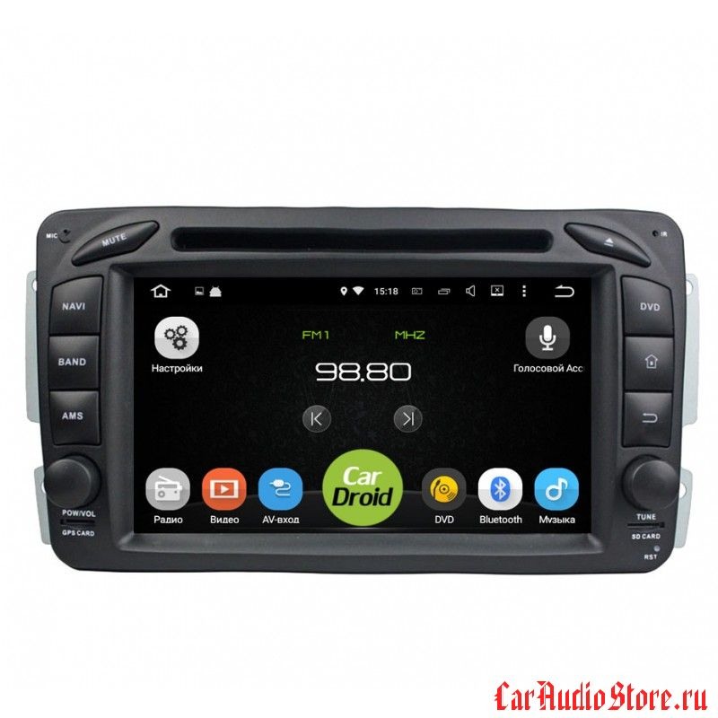 Roximo CarDroid RD-2501 для Mercedes Benz W203 W208 W209 W463 W639 Vito Viano Vaneo (Android 5.1.1)